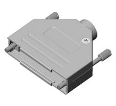 D-Sub Non-Magnetic Zinc Backshells with Captivated Jackscrews